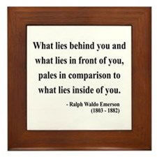 Ralph Waldo Emerson 11 Framed Tile