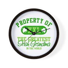 Property of Irish Grandma Wall Clock