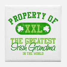 Property of Irish Grandma Tile Coaster