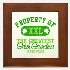Property of Irish Grandma Framed Tile