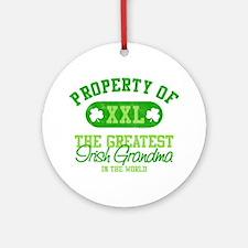 Property of Irish Grandma Ornament (Round)