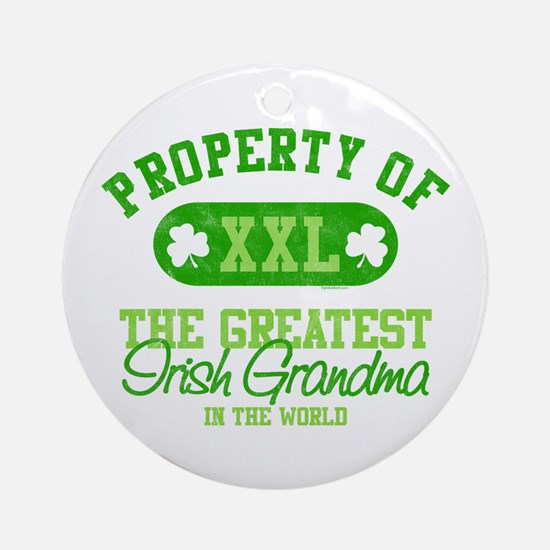 Property of Irish Grandma Ornament (Round)