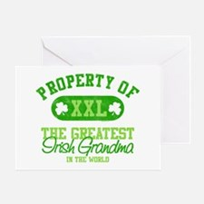Property of Irish Grandma Greeting Card