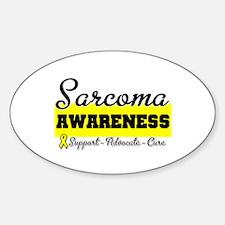 Sarcoma Awareness Oval Decal
