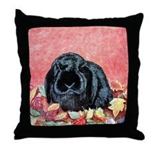 Holland Lop Rabbit Throw Pillow