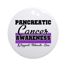 Pancreatic Cancer Ornament (Round)