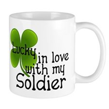 Lucky In Love With My Soldier Mug