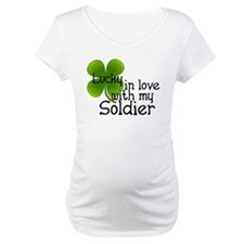 Lucky In Love With My Soldier Shirt
