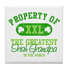 Property of Irish Grandpa Tile Coaster