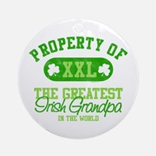 Property of Irish Grandpa Ornament (Round)
