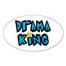 Drama King Oval Decal