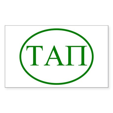 Tau Alpha Pi Rectangle Sticker