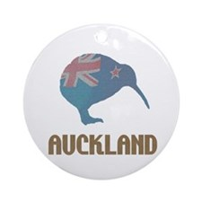 Auckland New Zealand Kiwi Ornament (Round)