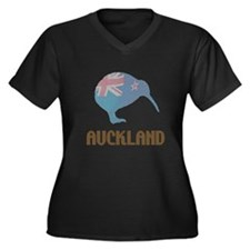 Auckland New Zealand Kiwi Women's Plus Size V-Neck