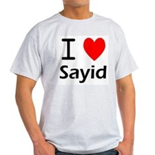 I Love Sayid Ash Grey T-Shirt