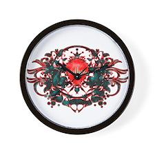 Twilight Love Crest Wall Clock