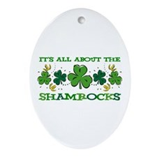 About The Shamrocks Oval Ornament