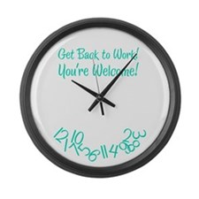 You're Welcome Large Wall Clock