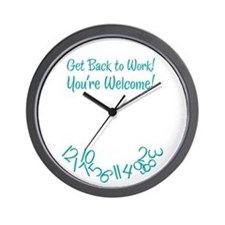 You're Welcome Wall Clock