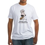 """""""Where are the Broads?"""" Fitted T-Shirt"""