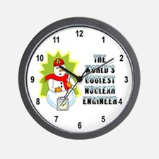 Coolest Nuclear Engineer Wall Clock