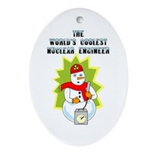 Coolest Nuclear Engineer Oval Ornament