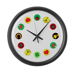 Luck Gifts Large Wall Clock
