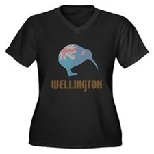 Wellington New Zealand Women's Plus Size V-Neck Da
