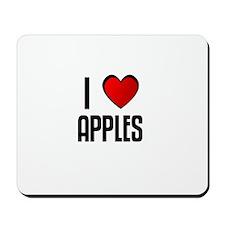 I LOVE APPLES Mousepad