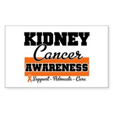 Kidney Cancer Rectangle Decal