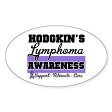 Hodgkin's Lymphoma Oval Sticker (10 pk)