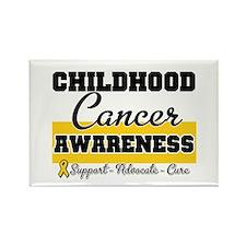 Childhood Cancer Rectangle Magnet