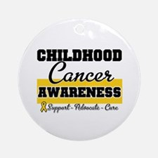 Childhood Cancer Ornament (Round)