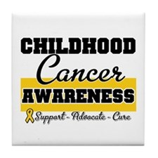 Childhood Cancer Tile Coaster