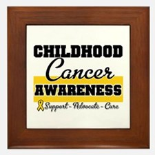 Childhood Cancer Framed Tile