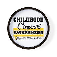 Childhood Cancer Wall Clock