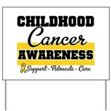 Childhood cancer awareness Yard Signs