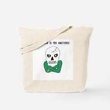 Halloween Attitude Skeleton Tote Bag