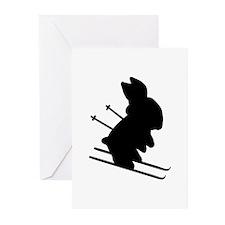 Ski Bunny Greeting Cards (Pk of 20)