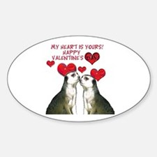 Meerkat Love Oval Decal
