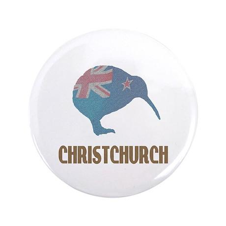 """Christchurch New Zealand 3.5"""" Button"""