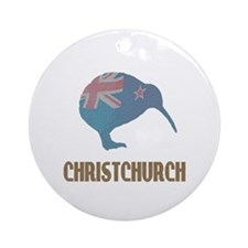 Christchurch New Zealand Ornament (Round)
