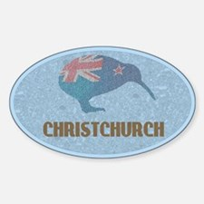 Christchurch New Zealand Oval Decal