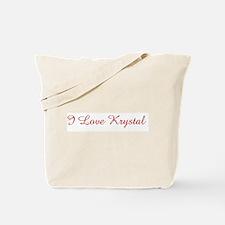 I Love Krystal Tote Bag