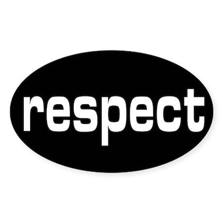 respect Oval Sticker