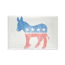 Democratic Donkey Rectangle Magnet