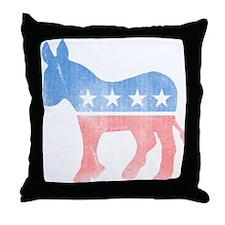 Democratic Donkey Throw Pillow
