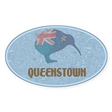 Queenstown New Zealand Oval Bumper Stickers