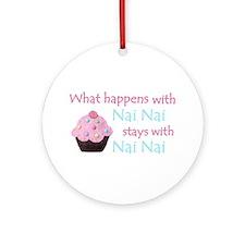 At Nai Nai's Ornament (Round)