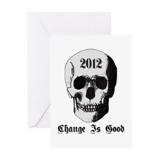 2012 Skull Greeting Card